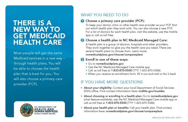 NC Medicaid Beneficiary Flyer